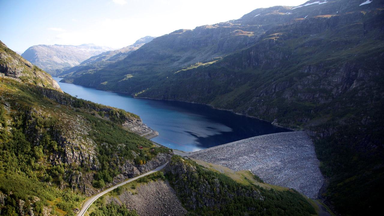 Hydro sitt anlegg i Røldal-Suldal kraftverk