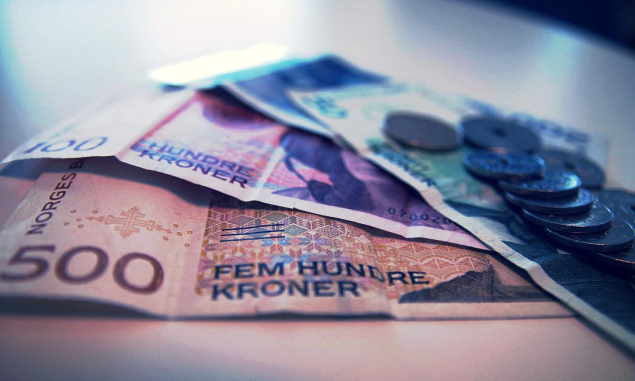 Norske pengesedler. Foto