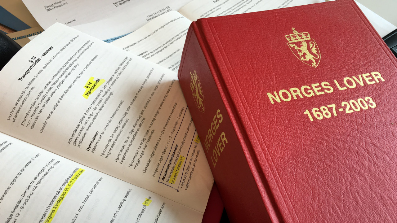 Bilde av Norges lover og energioverenskomsten