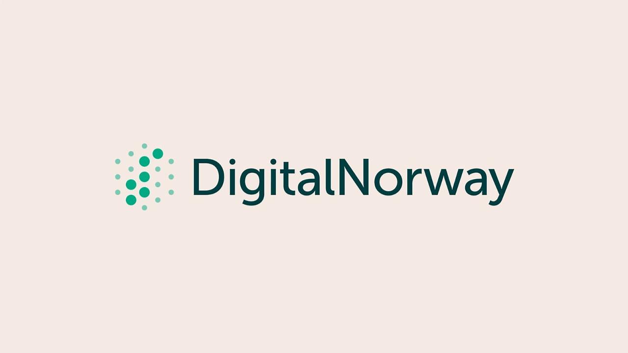 Logo i grønn med beige bakgrunn. illustrasjon