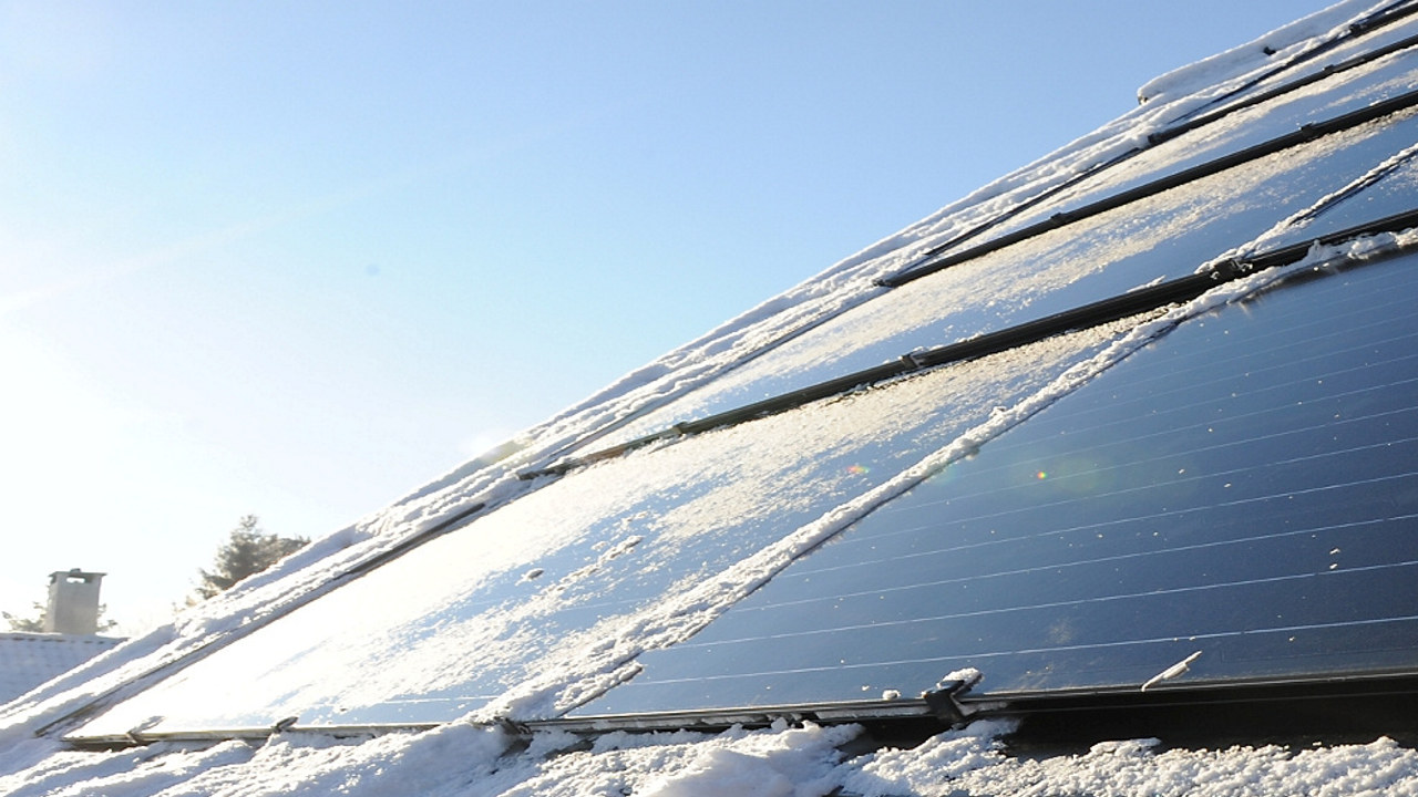 Bilde av solceller på et tak