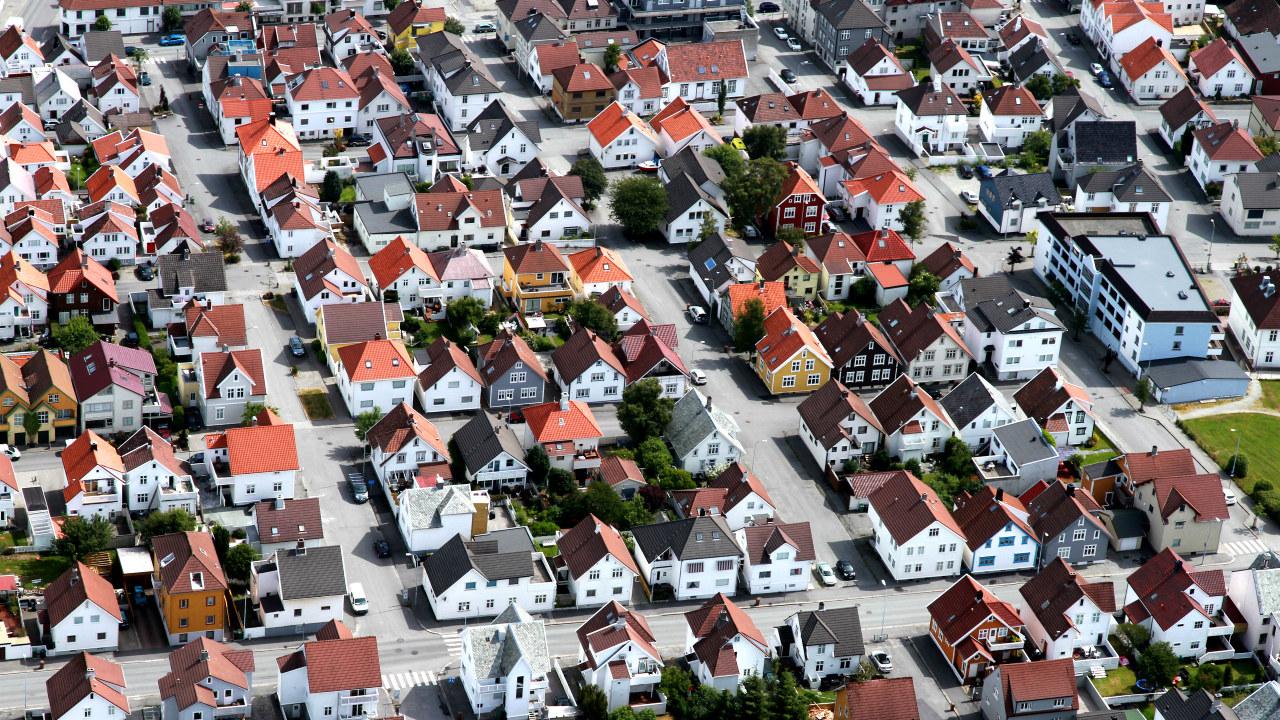 Foto: Bebyggelse sett fra luften