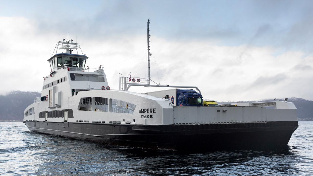 Ampere Norges første ferje på strøm.