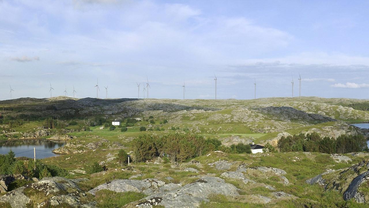 Frøya vindpark skal bygges i Frøya kommune og konsesjonen ble gitt allerede i 2012. Illustrasjon: TrønderEnergi