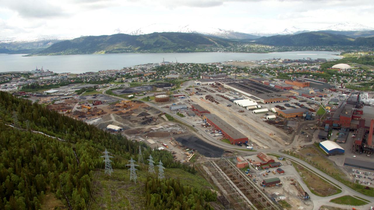 Industripark luftfoto