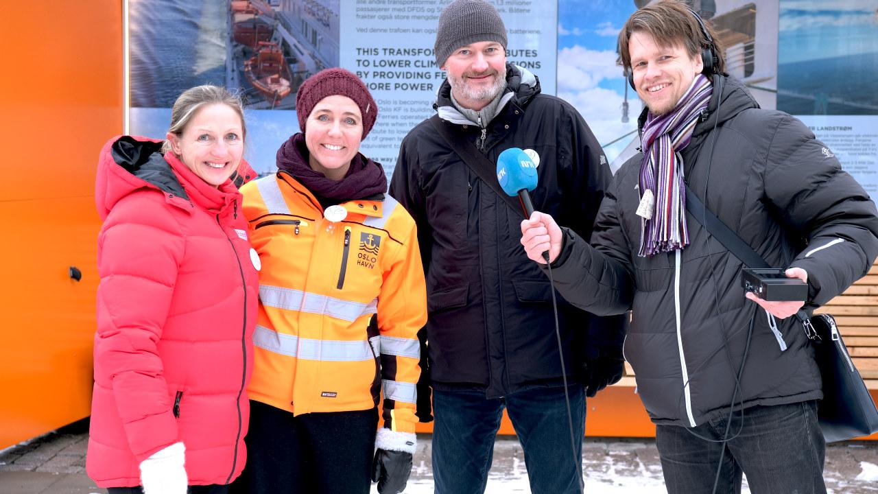 Strømmens dag på Vippetangen med Oslo Havn og Ruter. Aslak Øverås, Heidi Neilson i Oslo Havn og Gro Janborg i Ruter intervjues av Nitimen på NRK P1.