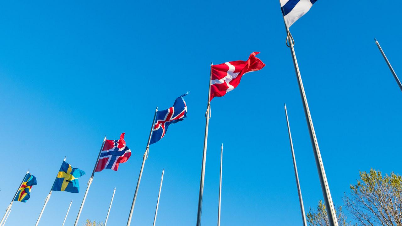 Nordiske flagg. Foto
