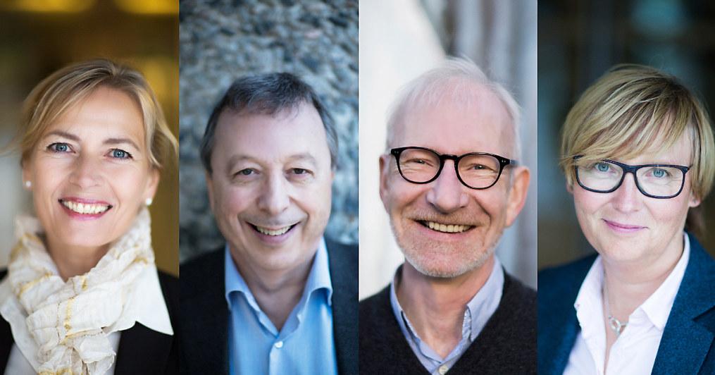 Fire ansikter. Foto