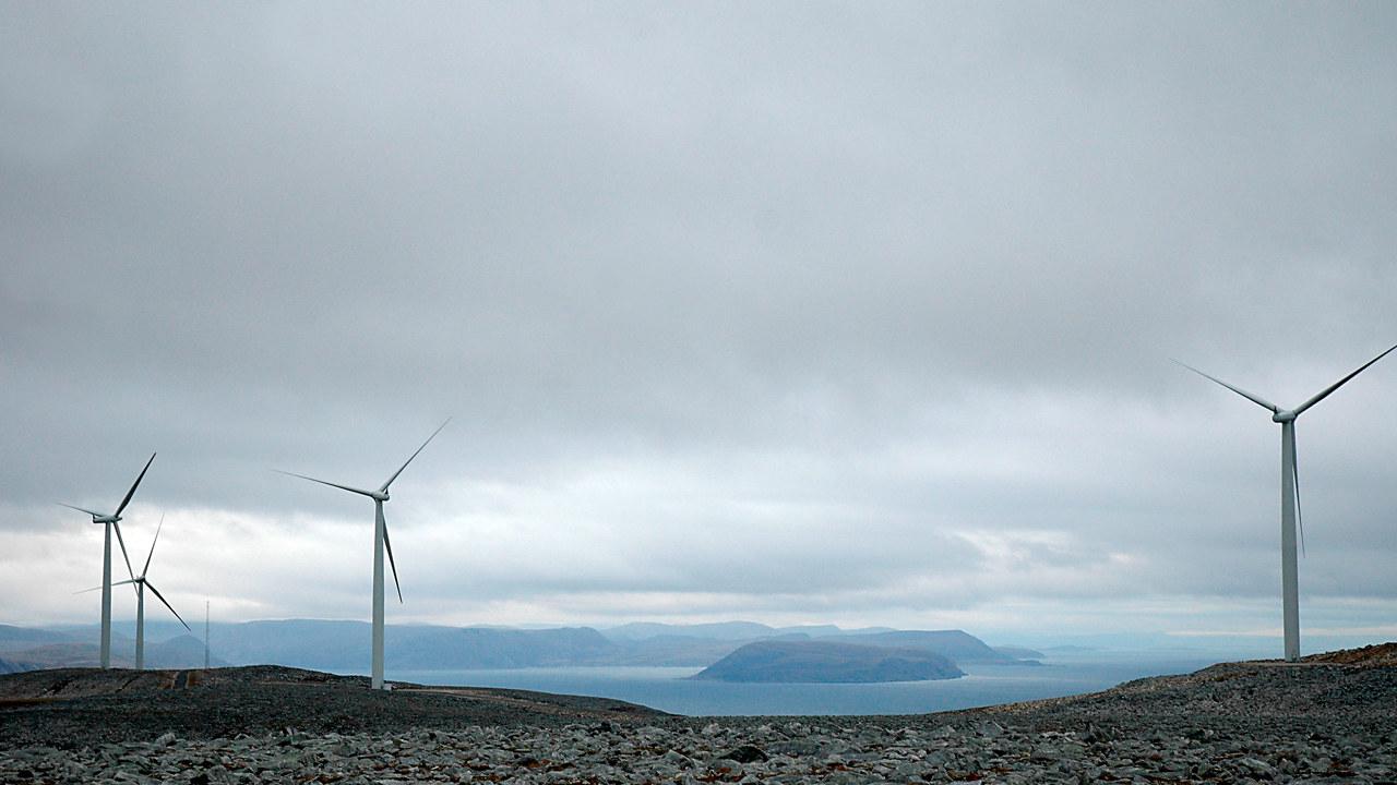 Åpning av Kjøllefjord vindpark 10. oktober 2006.