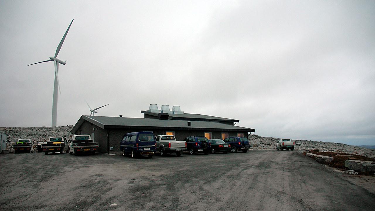 Trafobygget til Kjøllefjord vindpark