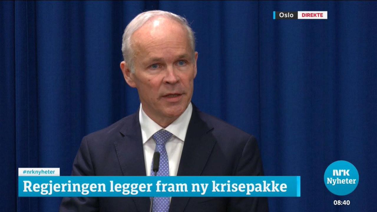 Pressekonferanse mann. foto