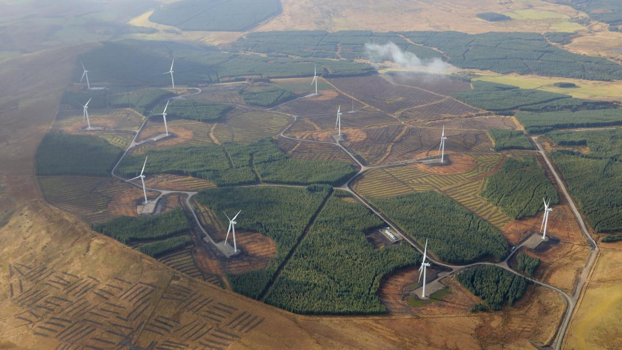 Andershaw Wind Farm Andershaw Wind Farm, Statkraft's 36.3 megawatt onshore wind farm located in South Lanarkshire, Scotland