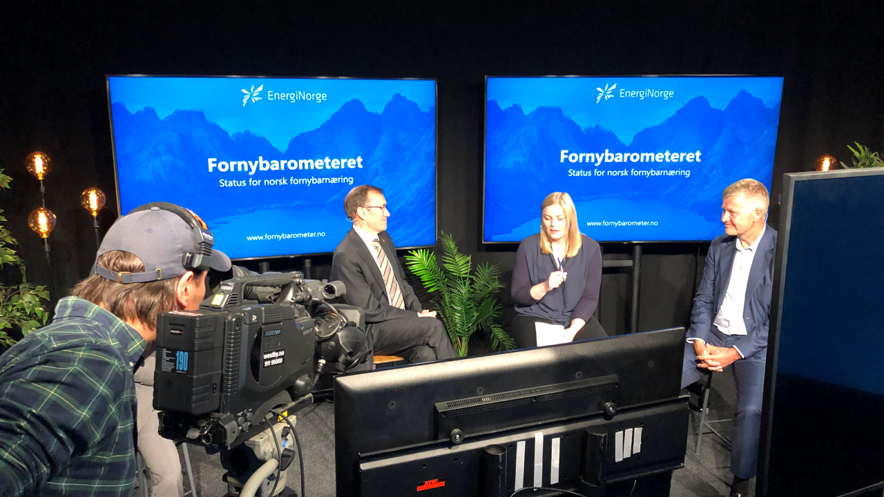Tina Bru, Erik Solheim, Espen Barth Eide i debatt om Fornybarometeret