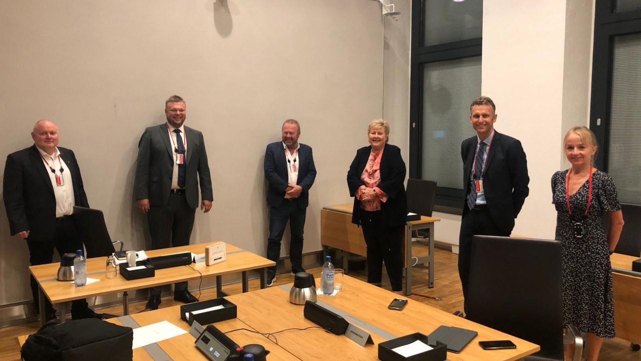 Representanter fra EL og IT, BKK og Energi Norge hos SMK