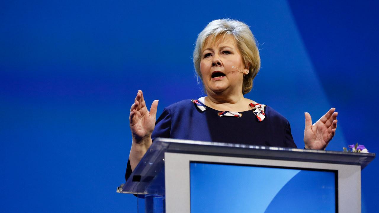 Høyres leder og Norges statsminister, Erna Solberg