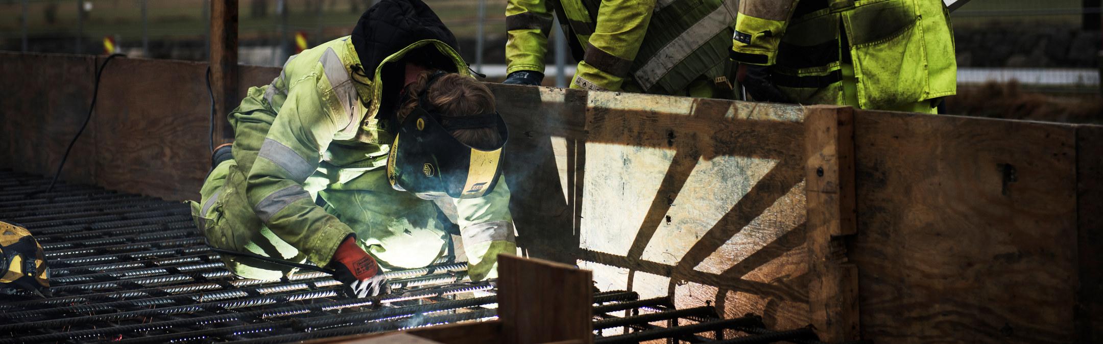 Opstad bygging sept 2019 Bygging av Opstad transformatorstasjon sør for Nærbø. Jærentreprenør er ansvarlig for byggearbeidet.     Foto: Ingvild Ween