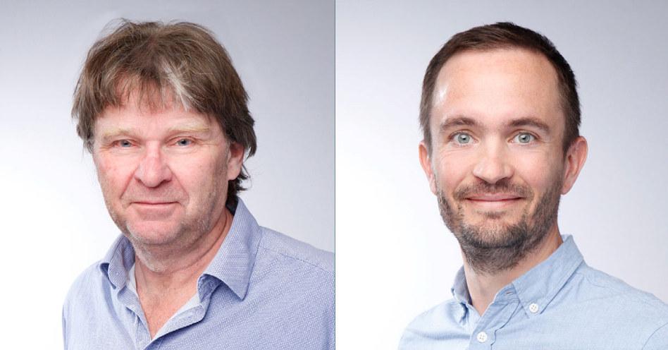Foto: portrettbilde av Ulf Møller og  Lars Ragnar Solberg