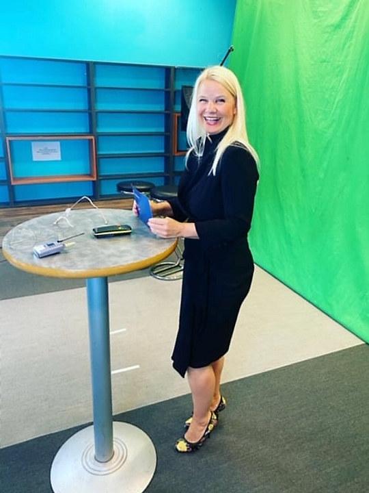 Behind the scenes for filmingen av webinaret: Ny Veileder om Innsideinformasjon ved krafthandel.