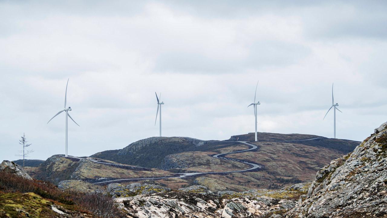 Roan vindpark 13. Mai 2019.Haraheia & noe Einarsdalen.Foto: Ole Martin Wold Roan vindpark