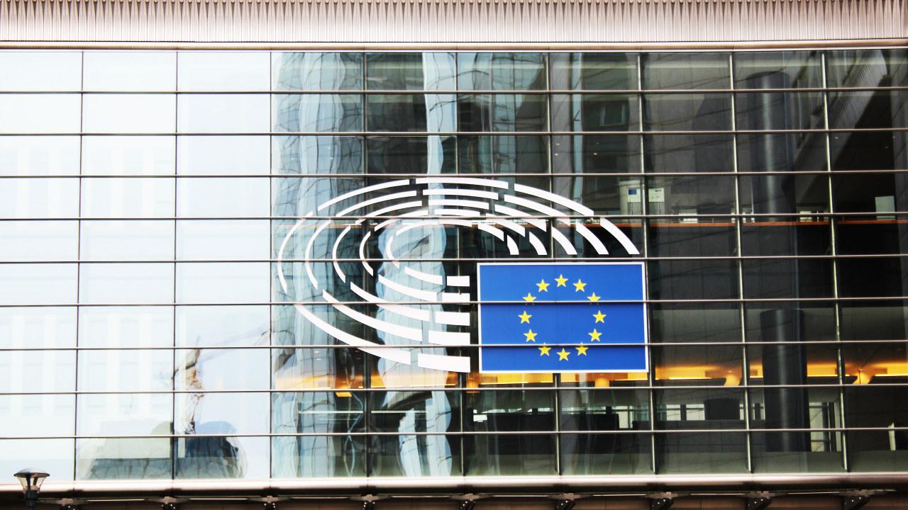 Foto: Europaparlamentet, en bygning i glass.