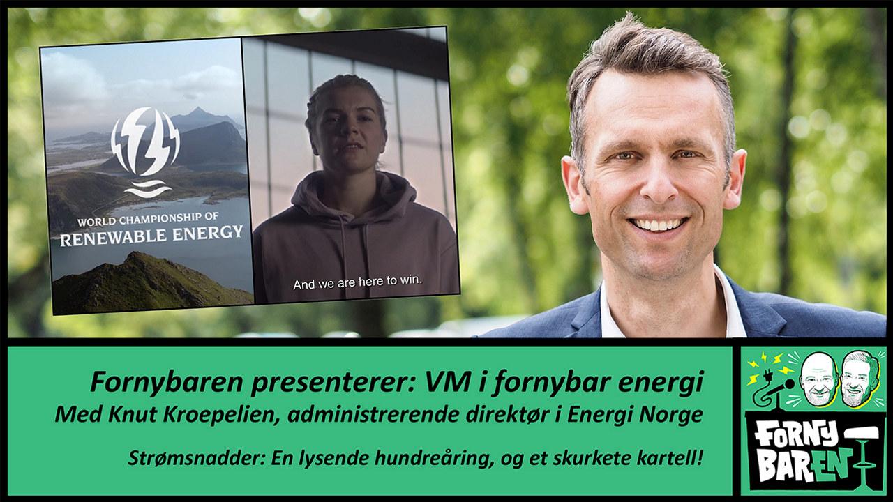Fotomontasje: Ada Hegerberg og Knut Kroeplien og teksten Fornynbaren