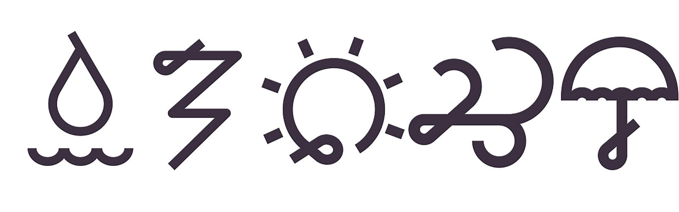 symboler horisontalt