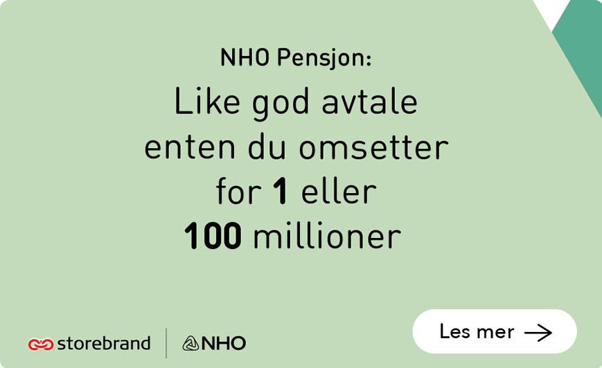 NHO pensjon. Like god avtale enten du har 12 eller 12 000 ansatt
