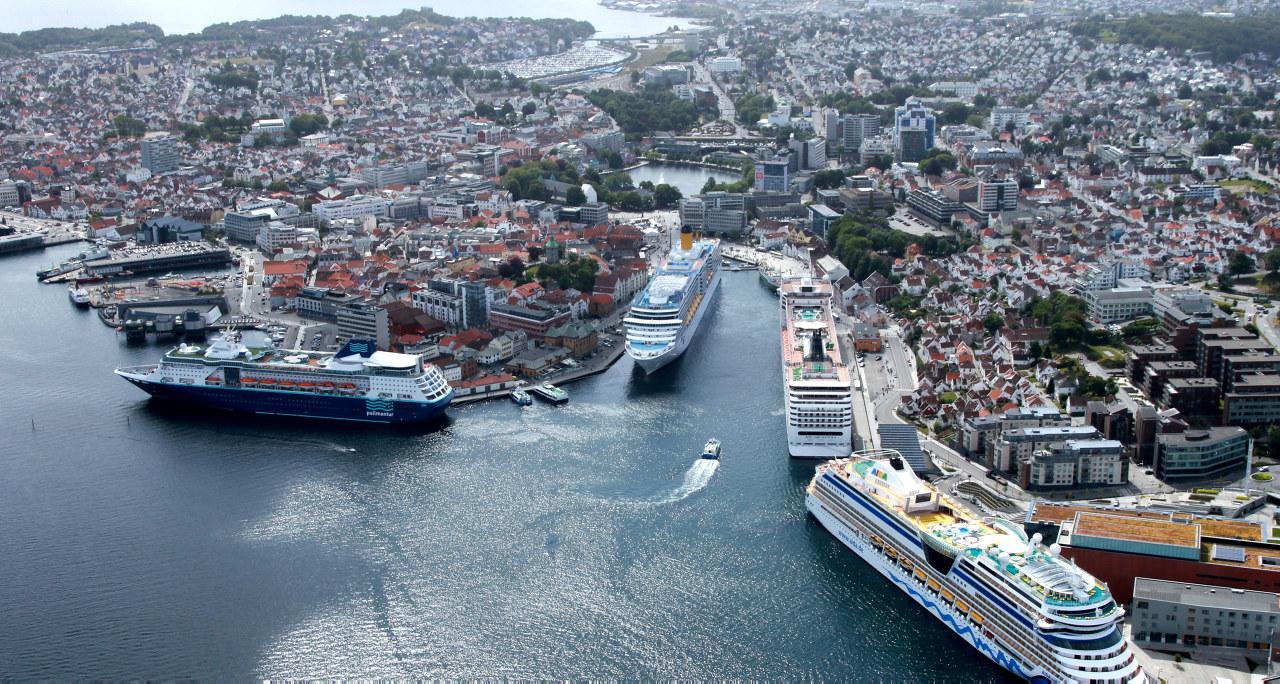 Stavanger sentrum og havna. Foto