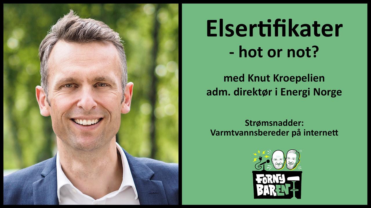 Knut Kroepelien i Fornybaren. Fotoillustrasjon