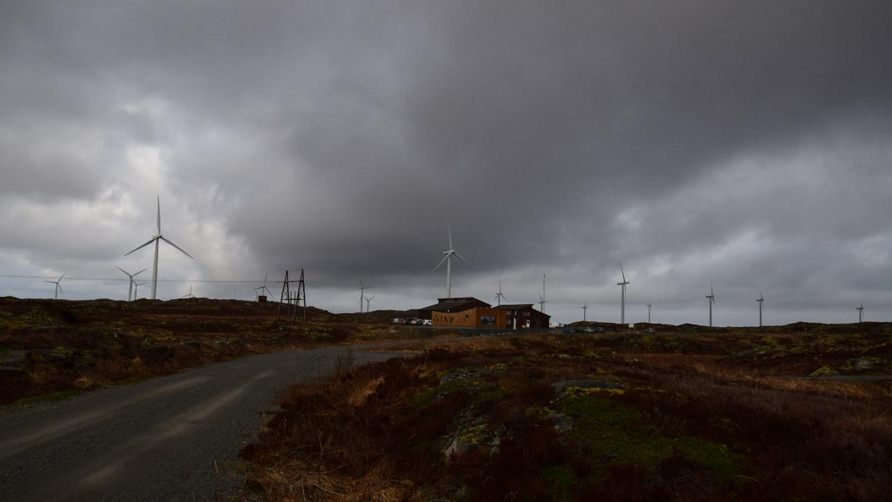 Statkraft sitt vindenergisenter på Smøla