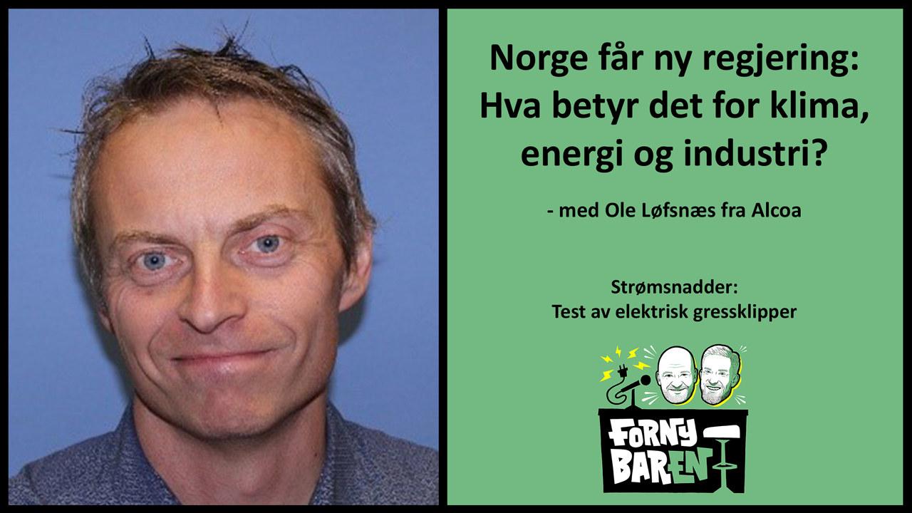 Ole Løfsnæs gjest i Fornybaren. Foto